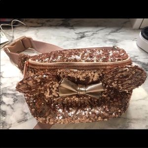Rose Gold Loungefly sequin fanny pack